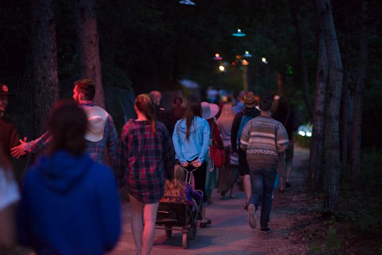 Folk Fest exit path