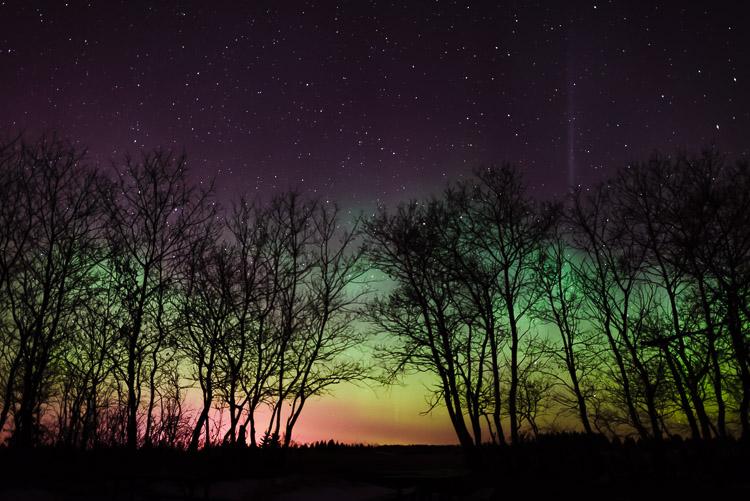 The green crown of the aurora borealis