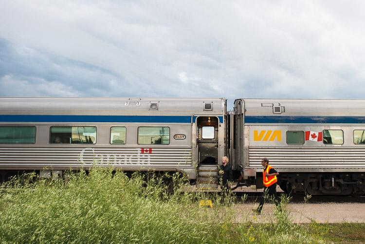 VIA Rail - Remote train station stop