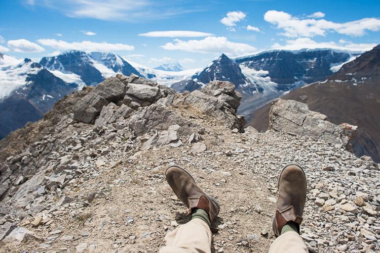 Sitting on Wilcox Peak after a tough scramble