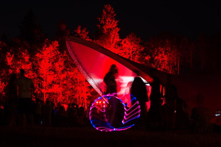 Hula hoop at Big Blue at Night