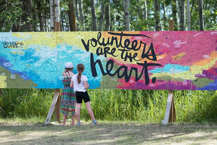 Volunteers are the Heart - Winnipeg Folk Festival Mural