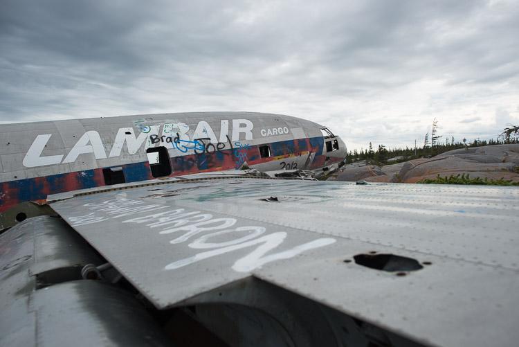 Miss Piggy plane wreckage
