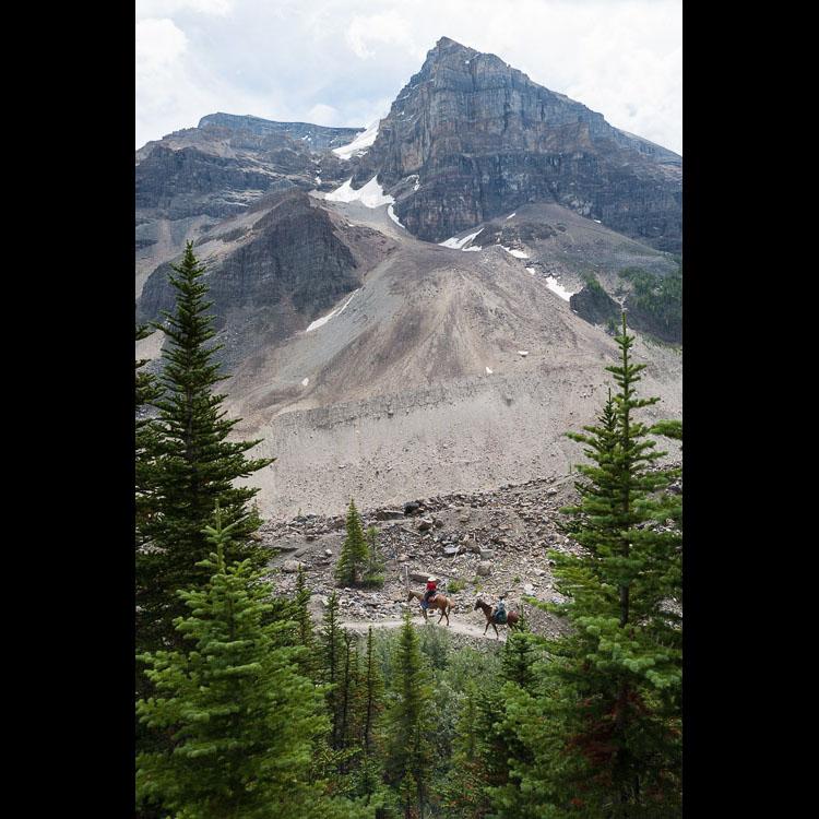 Horseback Riding Canadian Rocky Mountain trails