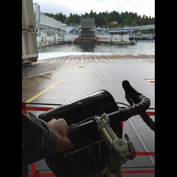 BC ferry crossing - bike point of view