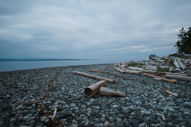 Quadra Island east coast - Rebecca Spit coast