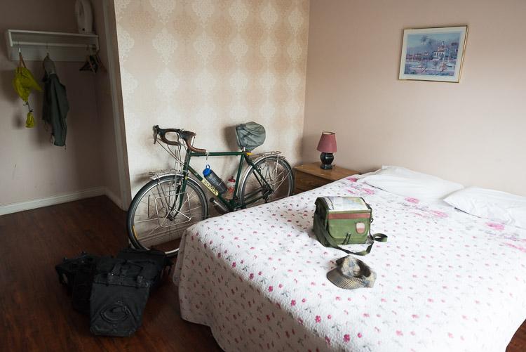 Powell River Motel on bike tour
