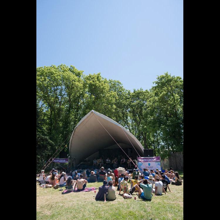 Shady Grove under a hot folk fest sun