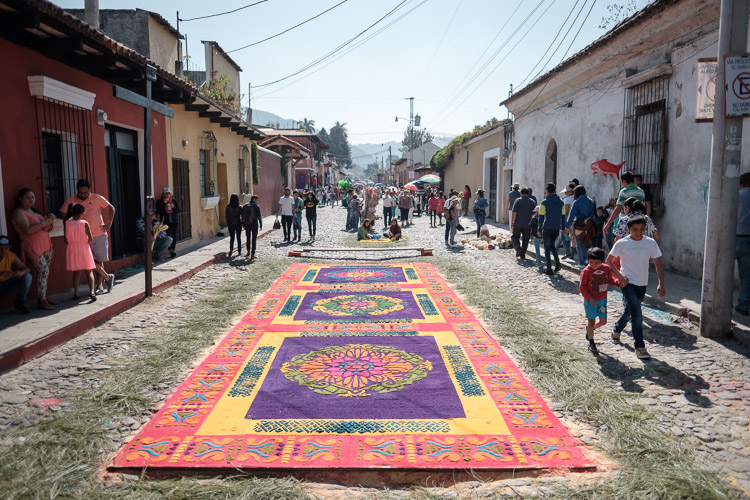 Alfombras in the streets of Antigua, Guatemala