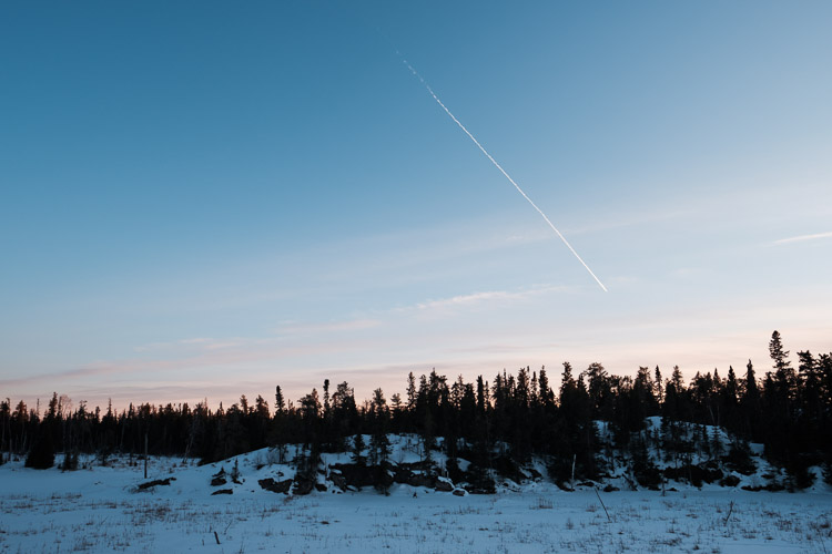 Winter's dusk in the Canadian Shield