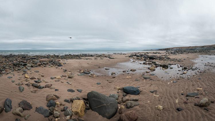 Sandy beach on the Hudson Bay