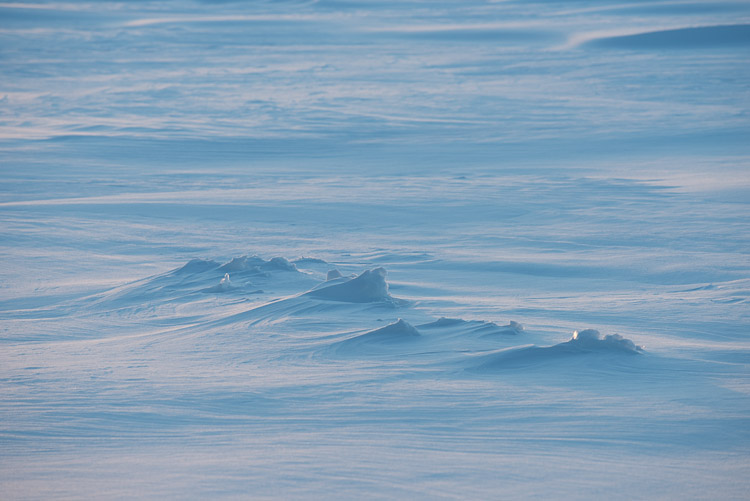 Snow drifts.