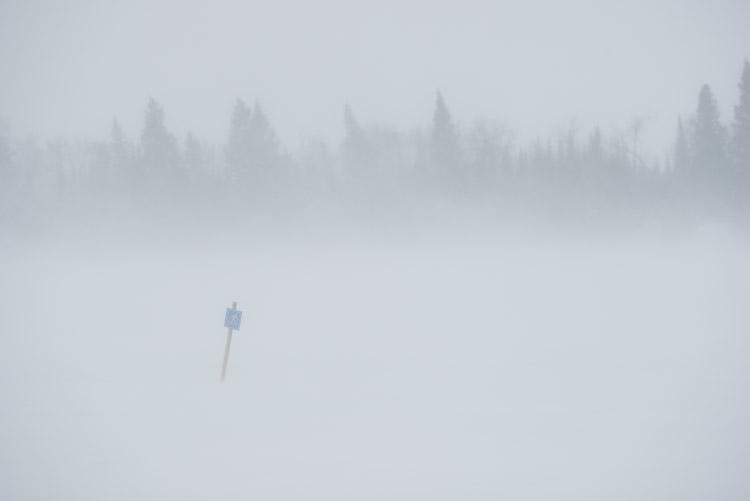 Ski trail closed.