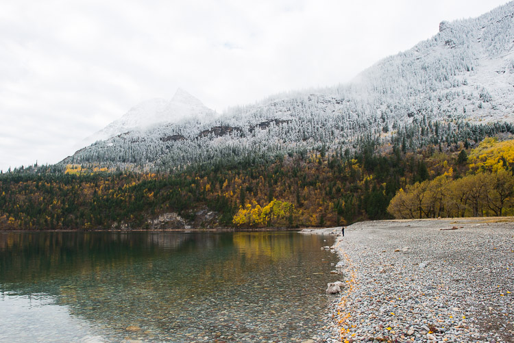 Autumn meets winter - Waterton postcard