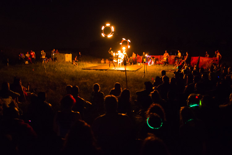 Winnipeg Folk Festival 2015 - night life at Pope