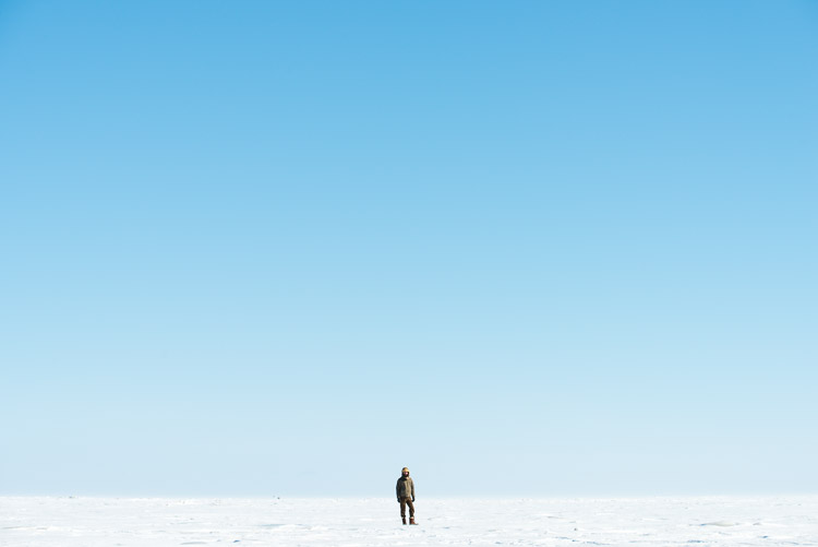 Minimalist Lake Winnipeg Portrait