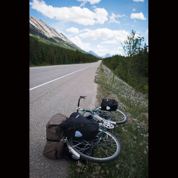 Bicycle on the Icefields Parkway