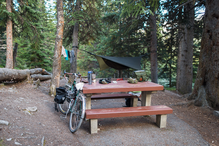 Basecamp at the Columbia Icefields campground