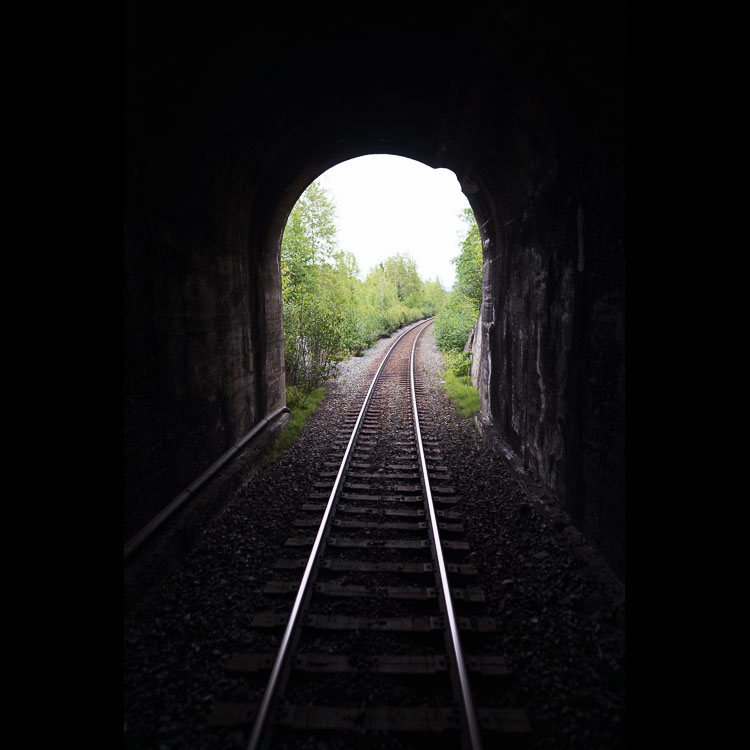 Train tunnel in the Skeena region