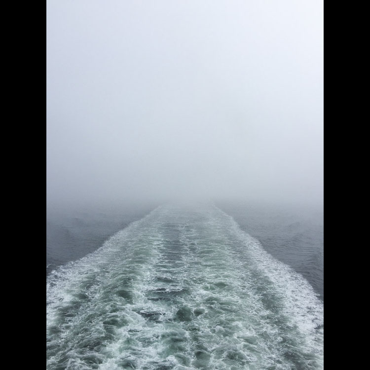 Ferry crossing Hecate Strait - in the fog