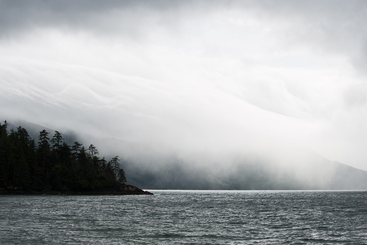 Moody weather over Rennell Sound