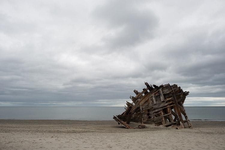 Pesuta shipwreck on East Beach - Haida Gwaii