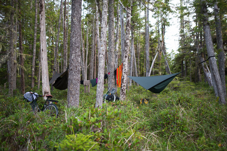 Wilcamping inland on the Haida Gwaii
