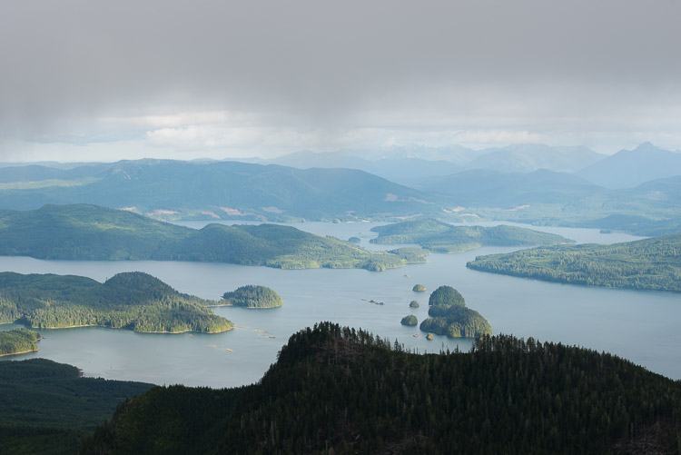 A view from above the Narrows south of Graham Island