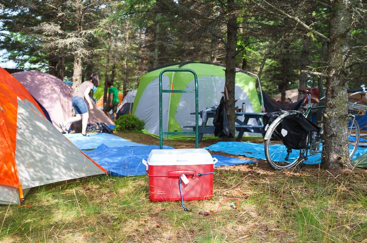 Festival campground at the Winnipeg Folk Festival - camp site