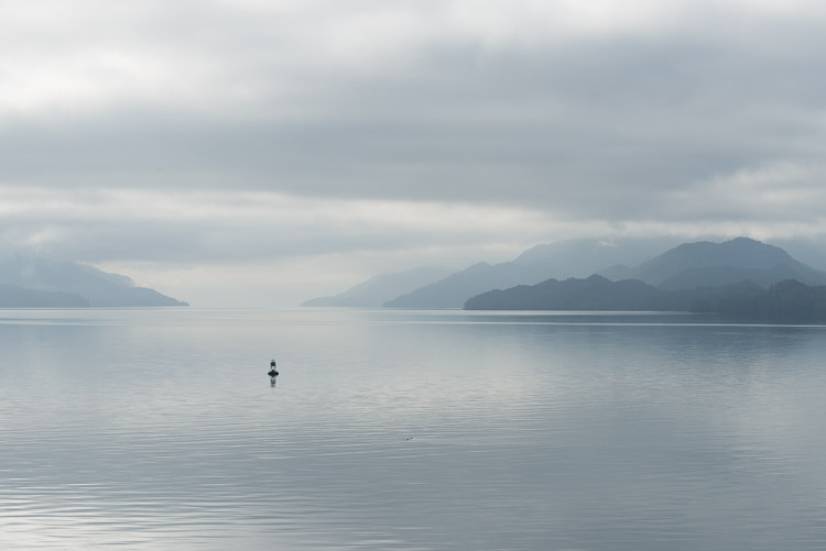 Ferry view of the Inside Passage of British Columbia