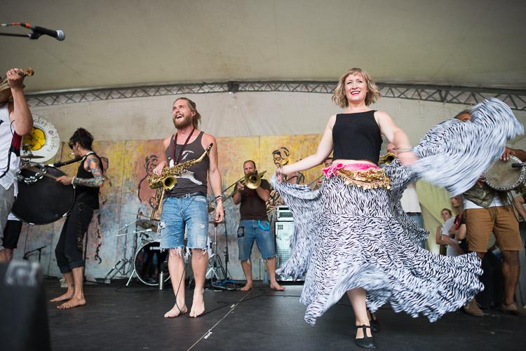 Lemon Bucket Orkestra - dancing and laughing