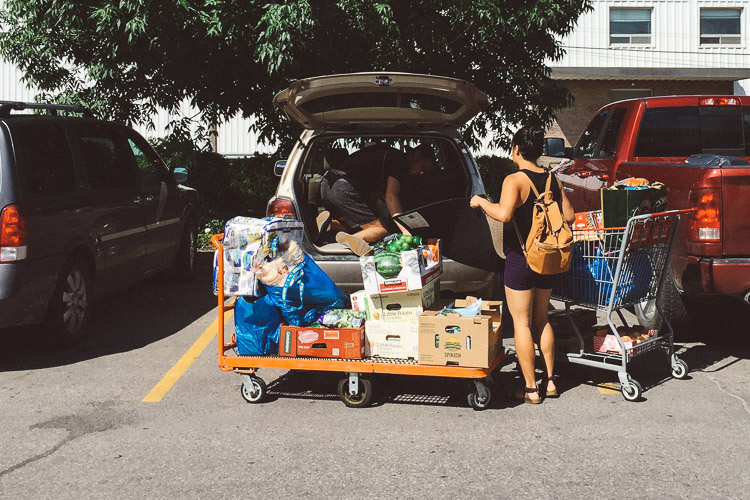 Loads of groceries