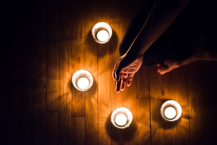 Candlelit mediation - jnana mudra