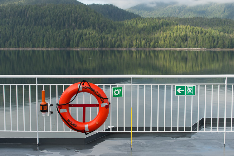 Northern Expedition Victoria - Life preserver on BC Ferries
