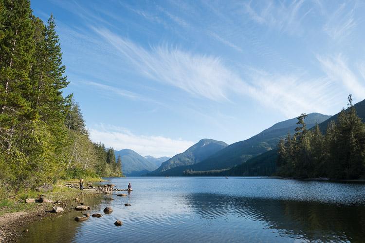 Woss Lake view on beautiful summer day
