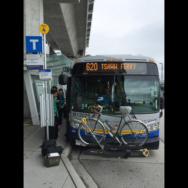 Transit shuttle to Tsawwassen Ferry Terminal