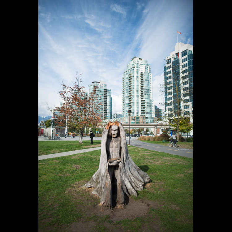 Carved stump in Vancouver
