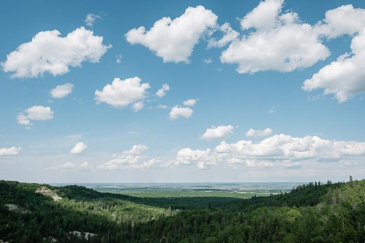 Riding Mountain view towards the eastern prairies