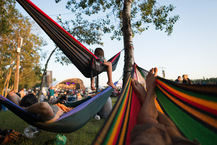 Hammocks in the Main Stage field