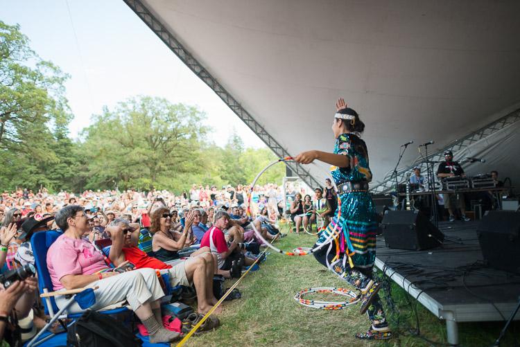 Hoop dancer at the Winnipeg Folk Festival