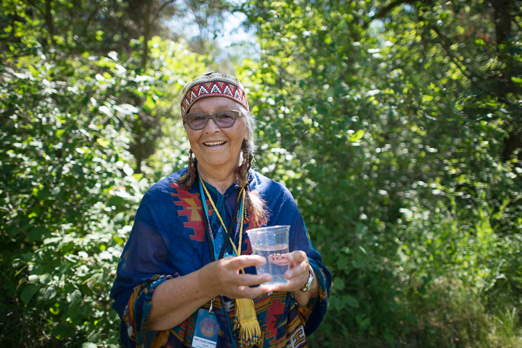 Elder Mae Louise Campbell - Water ceremony at the Winnipeg Folk Festival