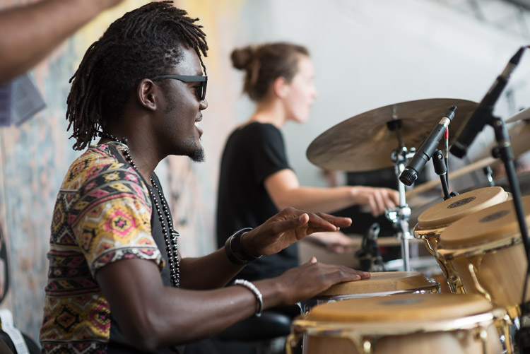 Rhythm in the percussion section