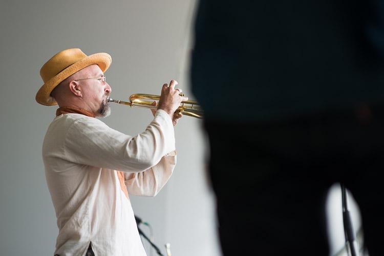 Trumpet player from the Lemon Bucket Orkestra
