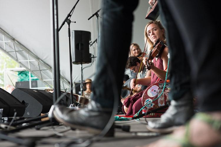 Kelsey Wilson of Wild Child at the Winnipeg Folk Festival 2016