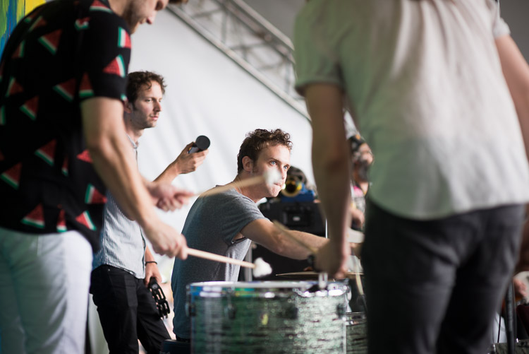 San Fermin Drummer: Michael Hanf