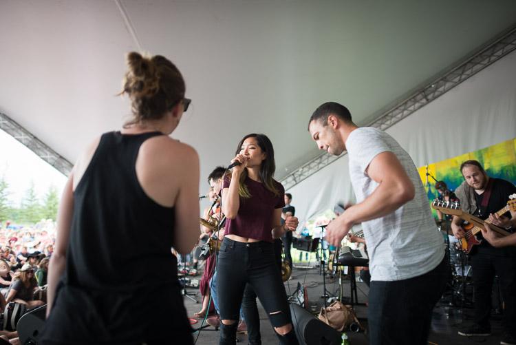 San Fermin vocalists at Winnipeg Folk Festival 2016