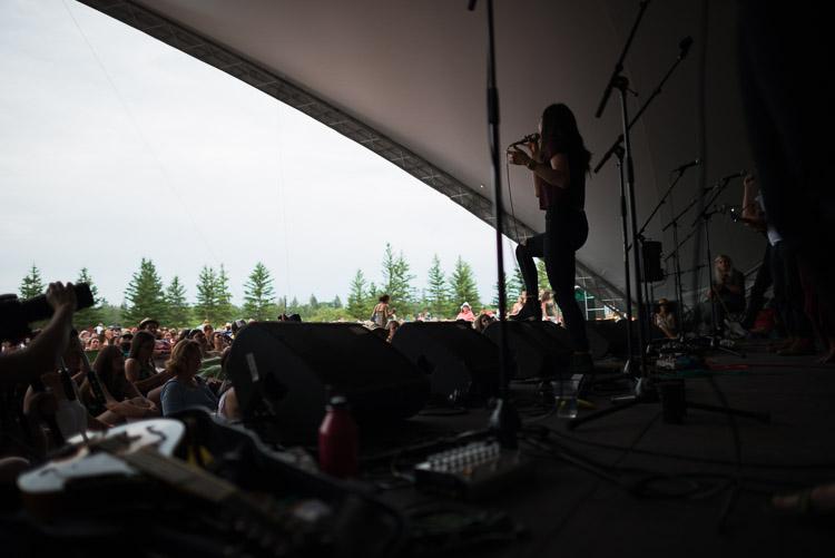 Charlene Kaye of San Fermin at Winnipeg Folk Festival 2016