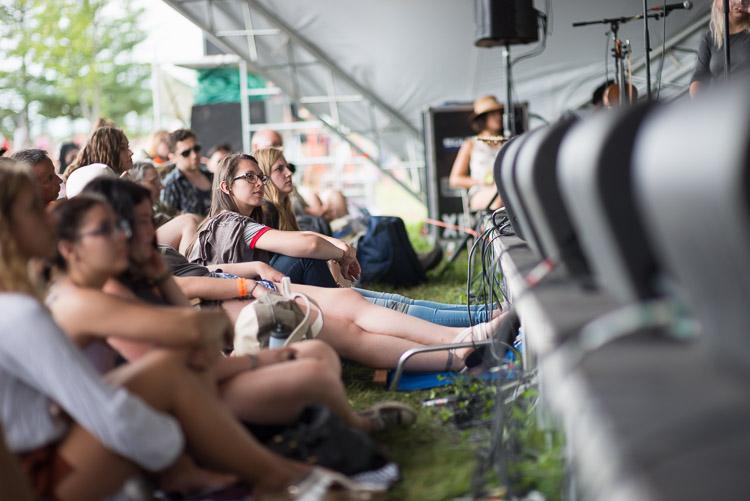 Crowd at the edge of Winnipeg Folk Festival stage