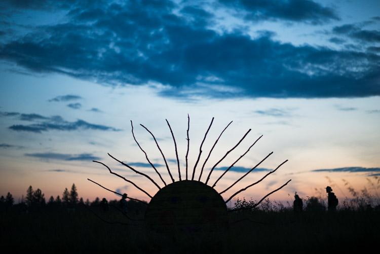 Prairie sunset at Winnipeg Folk Festival 2016 - art