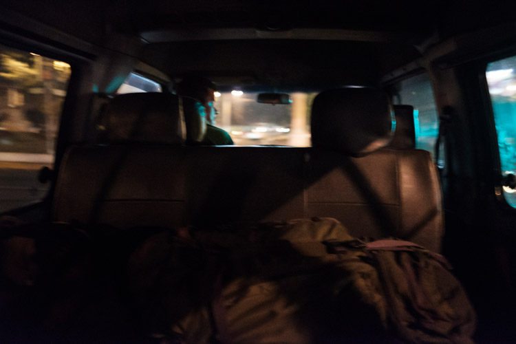 The blur from the back seat of a late night shuttle out of Guatemala City